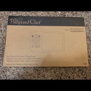 "NIB Pamperedchef ""eat drink and be merry"" cheesebd"